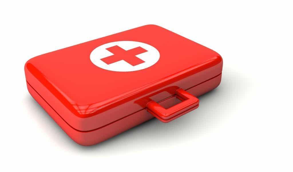 Der Notfallplan für das Unternehmen in einer roten Box.